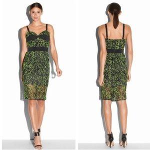 Milky Green Neon Corset Dress NWT